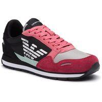 Sneakersy - x3x058 xl481 r528 spicy red/strawb/blk, Emporio armani