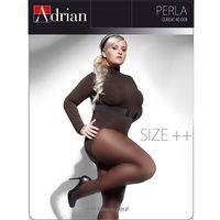 Rajstopy perla size++ 40 den 7xl-8xxl 8, czarny/nero. adrian, 8, 7, Adrian