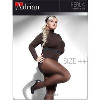 Rajstopy perla size++ 40 den 7xl-8xxl 8, czarny/nero, adrian, Adrian