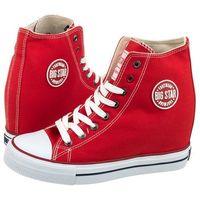 Sneakersy czerwone u274905 (bi5-e) marki Big star