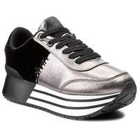 Sneakersy CALVIN KLEIN JEANS - Carlita R0689 Pewter/Black, kolor szary