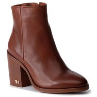 Botki TOMMY HILFIGER - Mono Color Heeled Boot FW0FW04279 Ginger Bread 202, w 4 rozmiarach