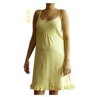 Koszula nocna ciążowa Żółta na ramiączkach, kolor żółty