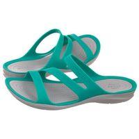 Klapki swiftwater sandal w tropical teal/light grey 203998-3o2 (cr120-c), Crocs