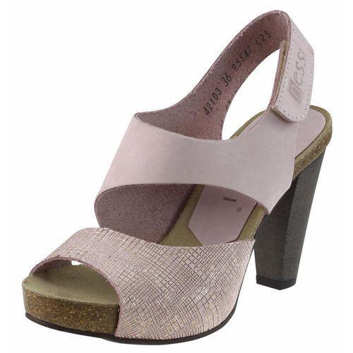 Sandały Nessi 42103 - Różowe 111+ST, kolor różowy