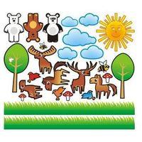 Zwierzęta 4 zestaw naklejek marki Deco-strefa – dekoracje w dobrym stylu