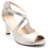 KOTYL 4325 ZŁOTE - Taneczne sandałki ze skóry - Złoty, kolor żółty