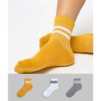 3 pack stripe ankle socks - multi, Asos design