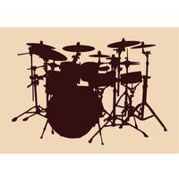 Przedmioty 13 - perkusja - naklejka do dekoracji dowolnej powierzchni. marki Szabloneria