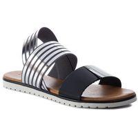 Sandały KAZAR - Azalea 38454-07-53 Black/Silver, kolor szary