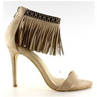 Buty obuwie damskie Sandałki z frędzlami etniczny wzór gd-16-52