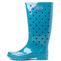 Mei kalosze damskie La Small Hearts 38 turkusowy, kolor niebieski