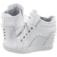 Sneakersy Carinii Białe B5167-L46-000-000-B88 (CI432-b), kolor biały