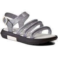 Sandały MELISSA - Flox + Vitorino Campos 32228 Black/Glitter Silver 52959, 37-40