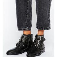 asher leather studded ankle boots - black marki Asos