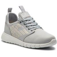 Ea7 emporio armani Sneakersy - x8x007 xcc02 00976 grey violet