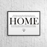 Dekosign Plakat dekoracyjny 50x70 cm home biały by