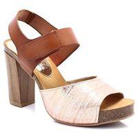 MARIETTAS 7728 RÓŻ-BRĄZ - Hiszpańskie sandały, kolor brązowy