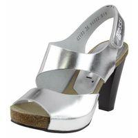 Sandały 42103 - srebrne f marki Nessi