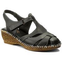 Sandały LANQIER - 40C1446 Granatowy, w 5 rozmiarach