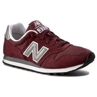 Sneakersy - ml373bn bordowy, New balance, 40-47.5