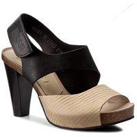Sandały NESSI - 42103 Czarny 11/Beż Lola