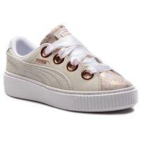 Sneakersy - platform kiss artica wn's 366707 01 puma white/puma white, Puma