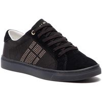 Tommy hilfiger Sneakersy - sparkle satin essential sneaker fw0fw03694 black 990