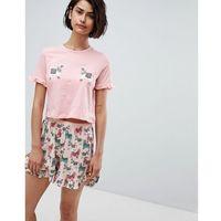 llama print pyjama top co-ord - multi marki Vero moda