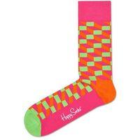 filled optic skarpetki różowy pomarańczowy 36-40 marki Happy socks