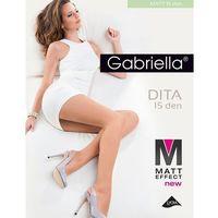 Rajstopy Gabriella Dita Matt 15 den 2-4 2-S, czarny/nero, Gabriella, (240)71302126(37)1