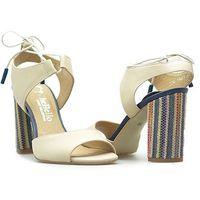 Sandały 1481 ecri056mix beżowe lico, Chebello