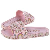Klapki Melissa Beach Slide 3DB IV AD 32540/51331 Pink/Gold (ML109-b), kolor różowy