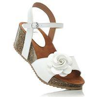 Sandały na koturnie biały marki Bonprix