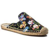 Tory burch Espadryle - max embrioidered espadrille slide 46913 perfect nany/painted iris 449