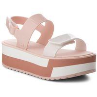 Sandały ZAXY - Slash Plat Sandal Fem 17525 Nude 90261 AA285088 02064, kolor biały