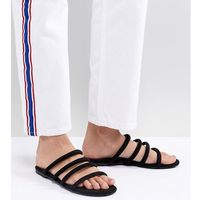 Monki multi strap sandals in black - black