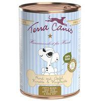 Terra Canis Karma dla szczeniąt, 12 x 400 g - Jagnięcina z cukinią, koprem włoskim i chudym jogurtem