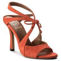 Sandały BALDOWSKI - D02240-7137-001 Zamsz Czerwony, w 6 rozmiarach