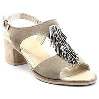 Mariettas 9992814 beżowe - hiszpańskie sandały