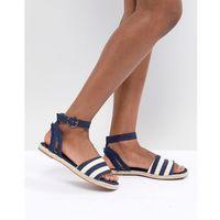 stripe espadrille sandals - blue marki River island