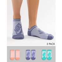 3 pack multicoloured no show socks - multi, Nike