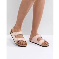 double buckle flat sandal - beige marki London rebel