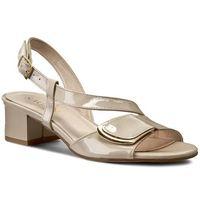 Sandały SAGAN - 1843 Kremowy Beż/Lakier Złoty, w 3 rozmiarach