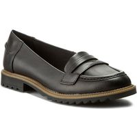 Clarks Półbuty - griffin milly 261011014 black leather