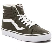 Sneakersy - sk8-hi reissue vn0a2xsbuch1 (leather/fleece) olive ni, Vans, 37-45