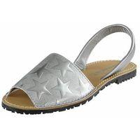 Sandały 28916 - srebrne gwiazdki, Tamaris