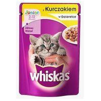 WHISKAS Junior Kurczak w galaretce - saszetka 24x100g (4770608239817)