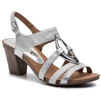 Sandały CAPRICE - 9-28308-22 Silver/White 919, w 2 rozmiarach