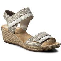 Sandały - 62470-64 metallic, Rieker, 37-40